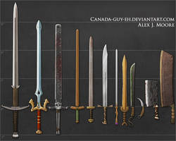 Swords, set #1 (update) by Canada-Guy-Eh