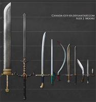 Swords, set #2 by Canada-Guy-Eh