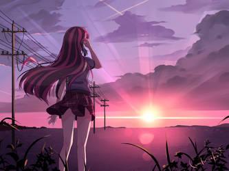 Pink Sunset by lunatic-neko