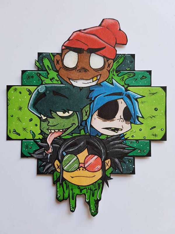 gorillaz by TheLucifer10