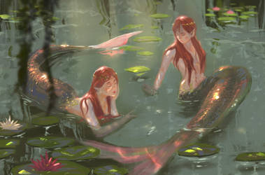 Lazy afternoon in the pond by amidarosa