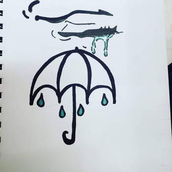 Share the umbrella  by coreydoestattoos