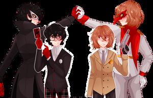 Criminal and Prince Detective, Joker and Crow by Gavala