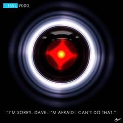 HAL 9000 by Crownos