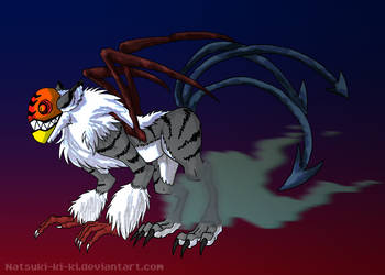Houjuu Nue Monster Concept by Inkblot-Rabbit