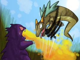 Capumon Battle by Inkblot-Rabbit