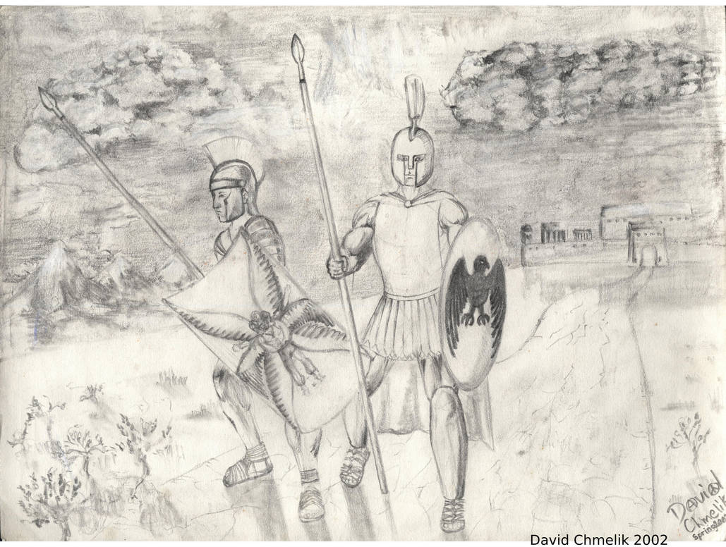 Hoplite And Centurion by dchmelik