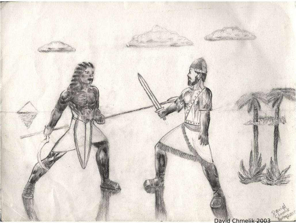 Jewish And Egyptian Warriors by dchmelik