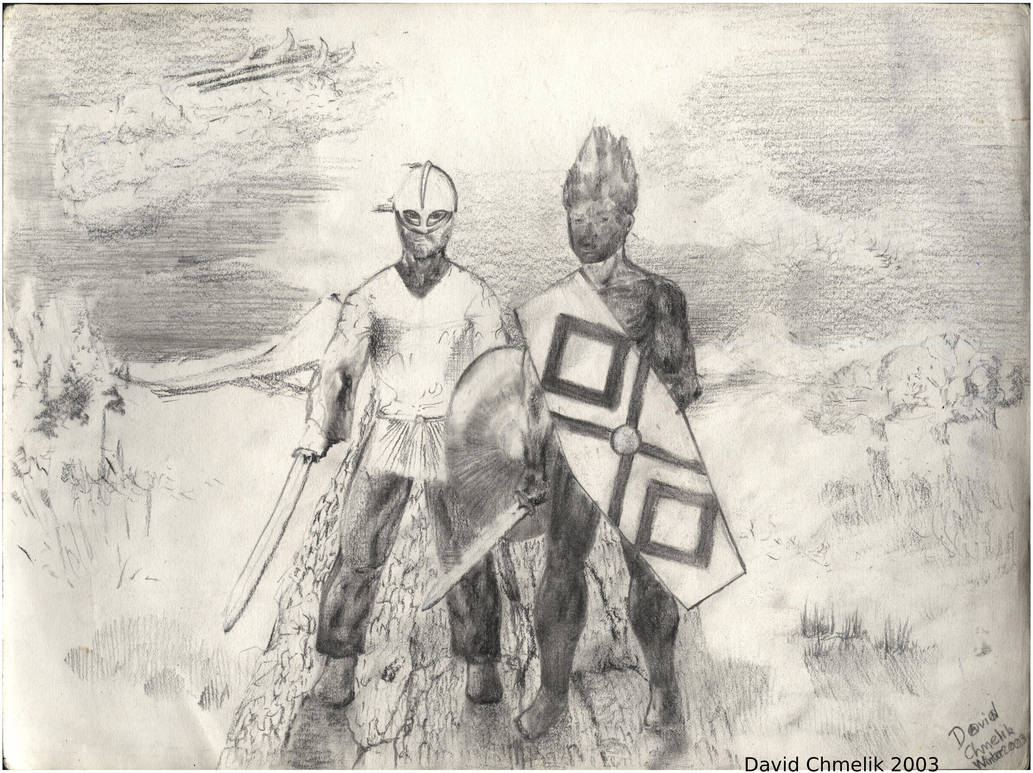 Viking And Pict by dchmelik