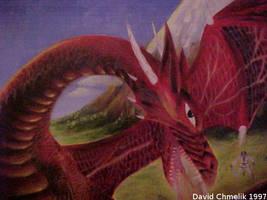 Dragon Fight: dragon closeup by dchmelik