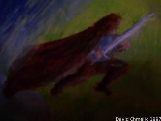 Dragon Fight: Tyran closeup by dchmelik