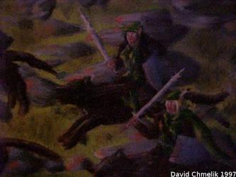 Dragon Fight: Kira, Kendie closeup by dchmelik