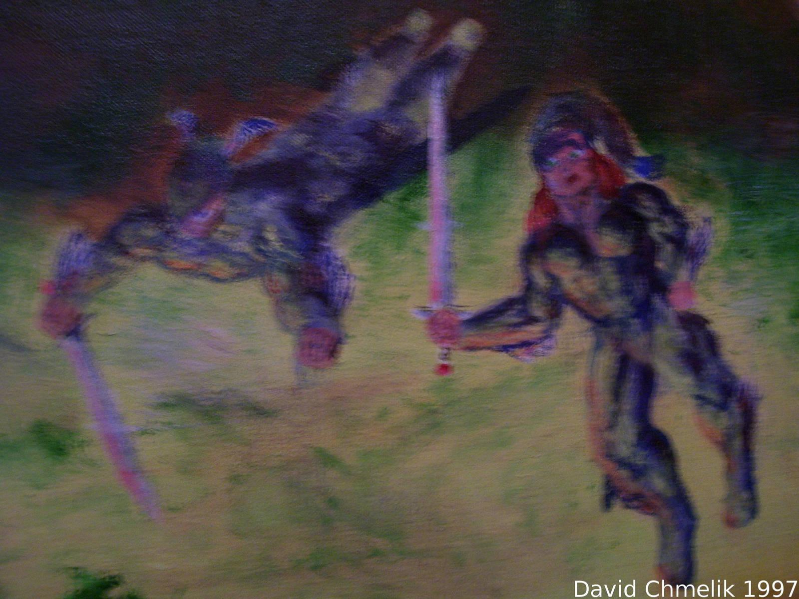 Dragon Fight: Crumb, Belit closeup by dchmelik