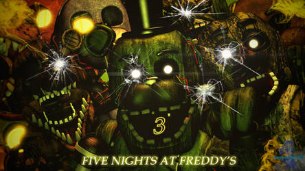 (Cinema4D-FNAF3) Five Nights At Freddy's 3 Poster by LagueadoHDYT