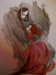 The vampire and the lady (2) by Shakeshakethesnake