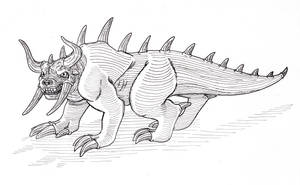 Fearsome Crittober: The Hodag by Spearhafoc