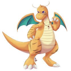 Ekon , the Dragonite by Nikkoamphy