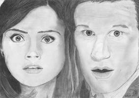 The Doctor and Clara by demik13