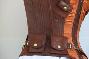 Copper steampunk corset by LillysWorkshop
