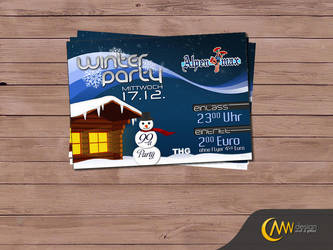 Winter Party Flyer by markus-worbs