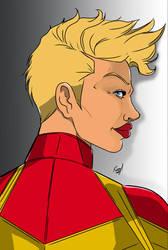 Captain Marvel by mrfuzzynutz