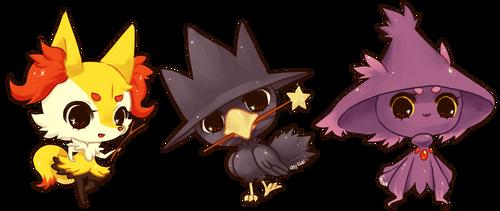 pokemon -- Pokewitches by onisuu