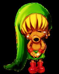 Majora's Mask -- Deku Link by onisuu
