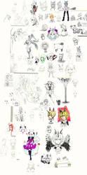 OCs -- collage by onisuu