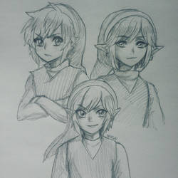 tri force heroes -- 3 links by onisuu