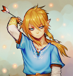LoZ -- Link (+time lapse) by onisuu