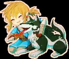 breath of the wild -- good friend by onisuu