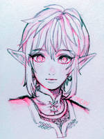 loz -- pencil Link (+video) by onisuu