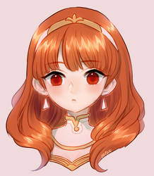 Fire Emblem Echoes -- Celica by onisuu