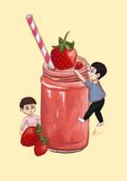 DnP and strawberry smoothie by MarketaKindlova
