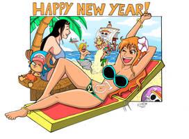 One Piece - Happy 2018! by pedrocorreia