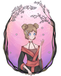 c: Sora and the cherry blossom by lovitato