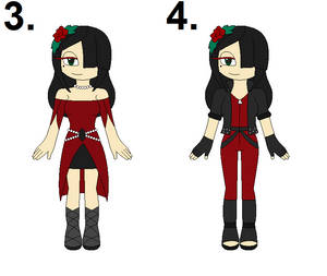 ~:Outfit Redesign Contest Entries 3-4:~ by TheVampiresRose