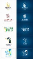 alpha travel logo by boyasseen