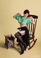 Knitting Pin-up by shanna-jones