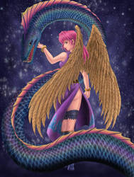 Generic Angel and Serpent by Serio555