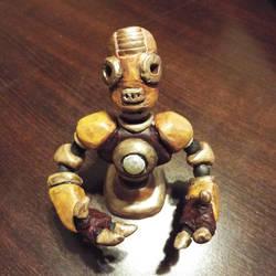 Robot Bust Sculpt by spunionring