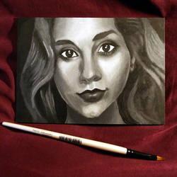 Portrait of Ali by spunionring
