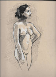 Figure drawing, standing, angle by spunionring