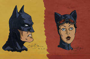 batman and catwoman by simon--says