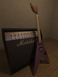 Dean Guitar with Marshal Amp by maximoos