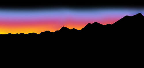mountain sunset by MountainGirl96