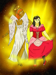 My darlings : Princess and Angel by littlevirgin