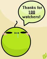 100 Watchers!! by Emmerson4278