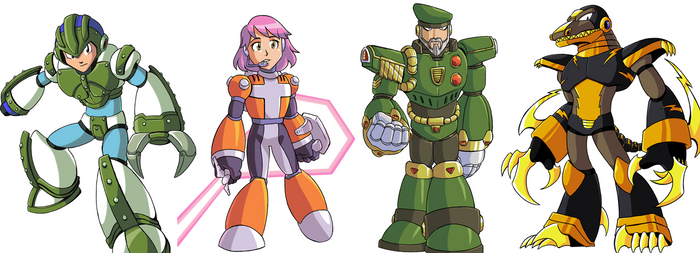 Mega Man X Commissions Part 01 by jmatchead