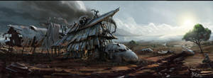 Plane Wreck House by matellis